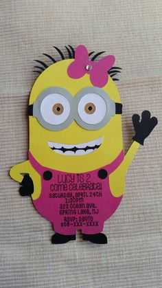 Check out this item in my Etsy shop https://www.etsy.com/listing/231551066/despicable-me-minion-girl-pink-with