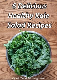 Kale is one of the most nutritious veggies around. It's super easy to use once you know how so check out these delicious kale recipes. Kale Salad Recipes, Veggie Recipes, Real Food Recipes, Diet Recipes, Vegetarian Recipes, Cooking Recipes, Heart Healthy Recipes, Healthy Treats, Healthy Eating
