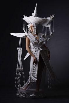 Asya Kosina paper costumes