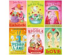 """Absolutelyadorable """"fake ad"""" post card set of 12 items from the talented french illustrator Amandine Piu."""
