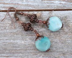 Blue earrings for friend, amazonite, friend gift, stocking stuffer, Christmas gift by JewelryByLoriStave on Etsy