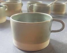 Green celadon mug