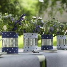 tin can centerpieces | Tin can centerpieces for a cute outdoor tablescape! ... | Party Ideas