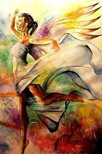 Painting - Angel Of Hope by Henry Blackmon