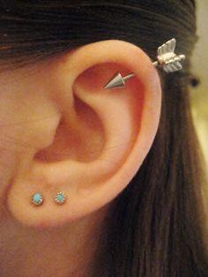 16+Gauge+Arrow+Helix+Piercing+Earring+Stud+Post+by+Azeetadesigns,+$12.00