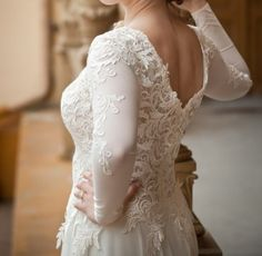 Wedding Dress on Sale, Lace, Open Back, Price is negotiable!