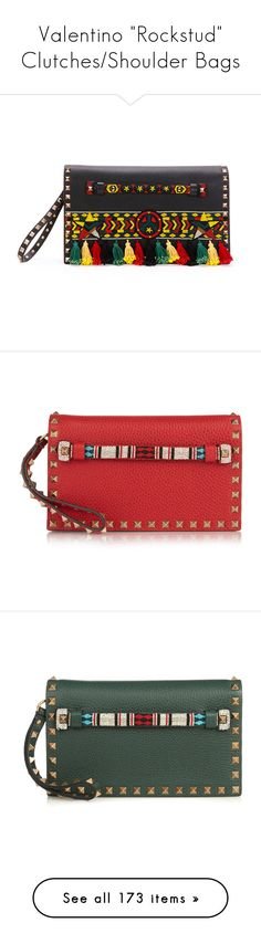"""""""Valentino """"Rockstud"""" Clutches/Shoulder Bags"""" by livnd ❤ liked on Polyvore featuring Clutch, valentino, collection, ROCKSTUD, bags, handbags, clutches, black multi, valentino purses and flap purse"""