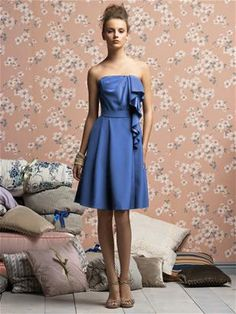Lela Rose Bridesmaids Style LR138XX in Cornflower #PatsysBridal #bridesmaid #wedding www.patsysbridal.com