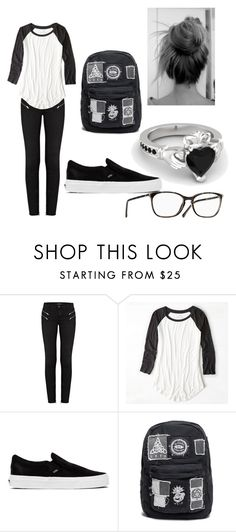 """""""Untitled #461"""" by kts-world ❤ liked on Polyvore featuring J Brand, American Eagle Outfitters and Vans"""