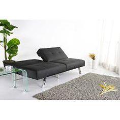 Jacksonville Black Foldable Futon Sofa Bed $350