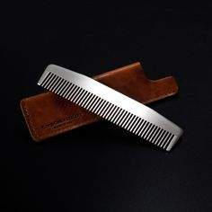 Model No. 3 // Matte With Tan Sheath Gift Set - Chicago Comb Co. make the finest metal combs in the world. Model No. 3 is satisfyingly heavy in your hand and absolutely sleek in your dopp kit. It even includes a famed Horween leather sheath, making this model the perfect holiday gift.  -  Click on This Link & get a $10 Credit Immediately!!!  https://www.touchofmodern.com/i/7HQHUEEP