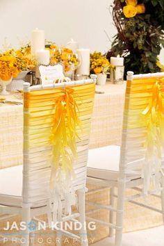 Cintas para decorar las sillas