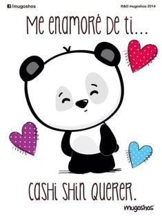 Panda Love, Panda Bear, Love Poems, Love Quotes, Cute Love, Love You, Drawings For Boyfriend, Baby Posters, Quotes En Espanol