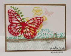 Amanda Sevall Designs: 365 Cards: Happy Birthday Butterfly