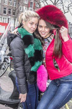 Coat: Froccella Scarf: Charlotte Simone  fox, foxfur, foxscarf, furscarf, fur, furfashion