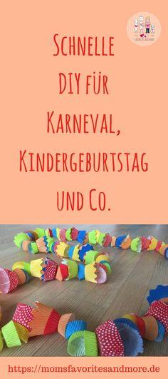 Eine einfach und schöne Idee für eure nächste Party, die eure gäste begeistern wird. Ob Karneval, Faschingsfeier in Kindergarten oder Schule, Geburtstag oder Silvester. Mit dieser einfachen Girlande könnt ihr groß und klein begeistern.