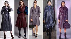 Модные кожаные пальто: осень зима 2017 2018