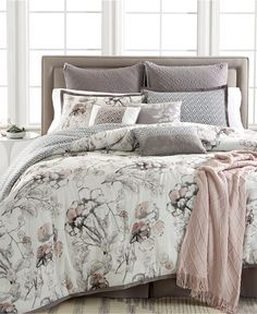 Kelly Ripa Home Pressed Floral 10-Piece Comforter Sets, Only at Macy's - Bed in a Bag - Bed & Bath - Macy's