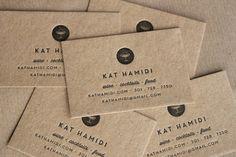 Unique Business Card Design on the Internet, Kat Hamidi #businesscards #namecards #printdesign