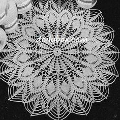 Free Crochet Patterns Easy Pineapple Doily Pattern