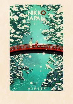 Nikko Japan Travel Poster