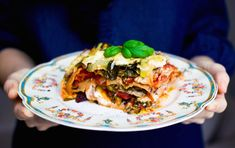 World's Greatest Vegetable Lasagna! by Green Kitchen Stories Vegetable Lasagne, Veggie Lasagna, Lasagna Recipes, Pizza Lasagna, Chicken Lasagna, Veggie Recipes, Vegetarian Recipes, Cooking Recipes, Healthy Recipes