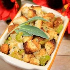 "Gluten Free Thanksgiving Stuffing I ""This was a great recipe. It was so flavorful and using fresh sage is the key to this recipe."""