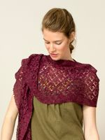 "A bit of lace goes a long way. The ""Umbrel"" lace shawl can be worn many ways. Anyway you choose will enhance whatever you wear. The softness around your neck will keep you smiling the whole day. http://knittingcentral.com/collections/the-fiber-co/products/meadow #knittingcentral, #fibreco, #knittedshawls, #merino, #llama, #babyllama, #silk, #linen, #shawl, #newyarns. knittingcentral.com."