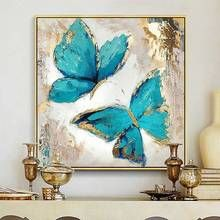 Gold blue butterfly acrylic painting on canvas abstract- Goldblau Schmetterling Acrylmalerei auf Leinwand abstrakte Gold Blue Butterfly Acrylic Painting on Canvas Abstract … – - Butterfly Acrylic Painting, Butterfly Canvas, Oil Painting Abstract, Acrylic Painting Canvas, Abstract Canvas, Canvas Art Prints, Blue Butterfly, Canvas Paintings, Painting Art