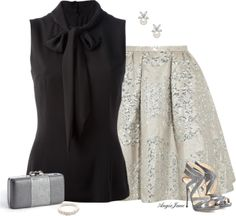 Women's outfit featuring Jimmy Choo sandals, Peter Pilotto circle skirt, and Dolce & Gabbana blouse.