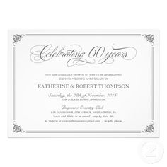 60th wedding anniversary invitations 60th anniversary parties wedding anniversary invitations 60 wedding anniversary