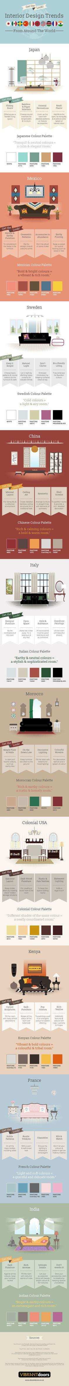Take a look at interior design styles from around the world.  | Deloufleur Decor & Designs | (618) 985-3355 | www.deloufleur.com