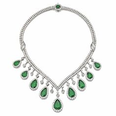 Emerald and diamond necklace - Sotheby's