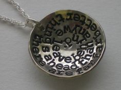 There are far better things ahead than any we leave behind. Cs lewis necklace