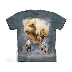 White Buffalo Shield Native American T Shirt by the Mountain Felnőtt Amerikai The Mountain Póló