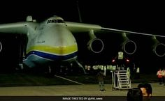 Antonov An-225 Mriya, World's Largest Cargo Plane, Lands In Hyderabad