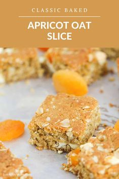 A simple and budget-friendly Apricot Oat Slice that's perfect for lunch boxes... and takes only 10 minutes to make! Plus it's fussy-kid approved too! #apricot #oat #slice #recipe #thermomix #sweet #conventional #lunchbox Lunch Box Recipes, Snack Recipes, Dessert Recipes, Dessert Ideas, Brunch Recipes, Cake Recipes, Cooking Recipes, Healthy Snack Options, Healthy Meals For Kids