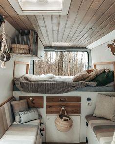 297 Likes, 0 Comments - Vanlife Bus Life, Camper Life, Camper Van, Van Living, Tiny House Living, Van Interior, Interior Design, Travel Camper, Van Home