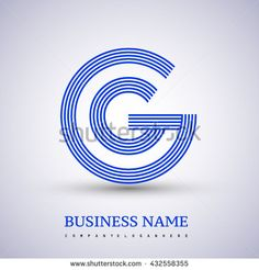 Letter GG linked logo design circle G shape. Elegant blue colored letter symbol. Vector logo design template elements for company identity. - stock vector