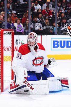 LOS ANGELES, CA - DECEMBER 4: Carey Price #31 of the Montreal Canadiens makes a save during the game against the Los Angeles Kings on December 4, 2016 at Staples Center in Los Angeles, California. (Photo by Juan Ocampo/NHLI via Getty Images)