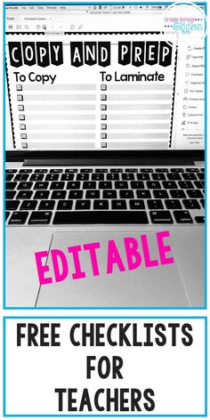 Checklists can be a key tool in your classroom management and organization. Thats why every teacher needs these 7 free printable checklists. Whether its your first year teaching or your tenth, checklists are a tool that makes it easy to track things like the standards youve covered, the prep youll need to do as you write your lesson plans, important daily and weekly to-do lists, which kids have completed individual assessments or mastered specific learning goals. #Teaching #TeacherChecklists