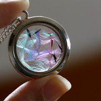 Medallón vidrio Arcoiris diente de león