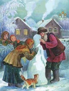 Снегурочка-иллюстрации к сказке