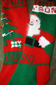 Hand Knit Christmas Stockings FOR 2014 ONLY - Sorry - We've run out of time for 2013!!