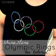 Use Silhouette's Pick Me Up embellishment tool to make your own rhinestone Olympics shirt. (via u-createcrafts.com).