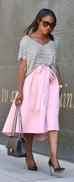 Ranti In Review Stripes And Pink Outfit Idea
