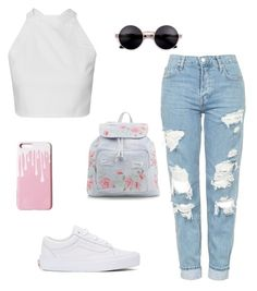 """Untitled #1"" by dasha7-8-2002 ❤ liked on Polyvore featuring Topshop, Vans and New Look"
