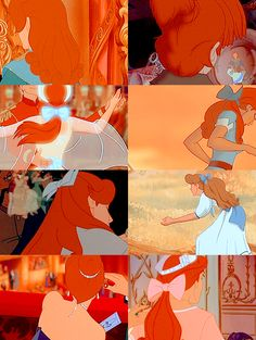 Anastasia. I know this one isn't Disney, but heavens! I watched this VHS tap *so* many times and it's animated, so... we're going with it. ;)