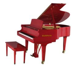 I want a Red Piano! Painted Pianos, Painted Furniture, Best Piano, Baby Grand Pianos, Shades Of Red, Red Color, Favorite Color, Polyvore, Jackson Browne