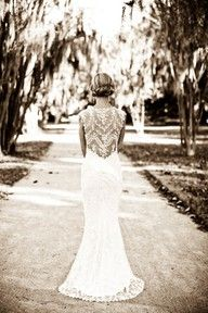 """Wedding dress This. lace back wedding dress """"Bride"""" dress. How cute would that be for the day of the wedding. Lace Back Wedding Dress, Wedding Gowns, Lace Wedding, Dress Lace, Lace Bride, Mermaid Wedding, Backless Wedding, Lace Mermaid, Lace Dresses"""